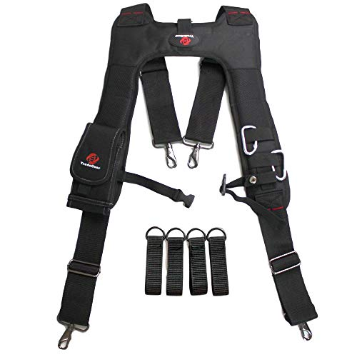 TradeGear Electrician's 4 Point Suspender Harness – Designed For...