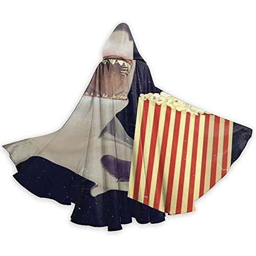Niet geschikt voor volwassenen, cape met capuchon, losse omhanging, capuchon, lange cape, cape, cape kostuum, hai eten, popcorn party/kerstkostuum, vampiergordijn.