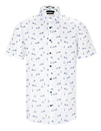 BASEFIELD Herren Poloshirt weiß/blau, Größe:S, Farbe:100 Weiss