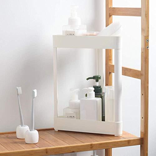 BATHROOM Badezimmerzubehör Multifunktionsregal Küchen-Dreieck-Lagerregal Boden stehender Waschtisch-Doppelablaufregal