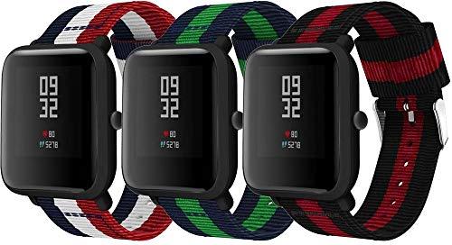Gransho ® compatível com Huawei Watch GT/Watch GT 2e / Watch GT 2 (46mm) / GT2 PRO/Watch 3 / Watch 3 PRO Pulseiras Para Relógio, Substituição da Pulseira de Nylon Esportivo (22mm, 3-Pack H)