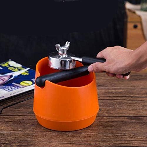 51mm Coffee Bodemloze Filter Met Grind Knock Box High Quality Coffee Sabotage Tool (Color : Black) Orange