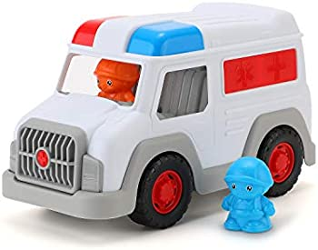 Foozzilla Ambulance Large Car Toy with 2 Toy Figure Accessories