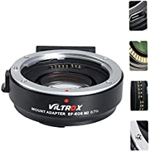 VILTROX EF-EOS M2 Lens Adapter 0.71x Speed Booster for Canon EF Lens to EOS EF-M Mirrorless Camera M50 AF Auto Focus Reducer, with TOAZOE Lens Cleaning Cloth