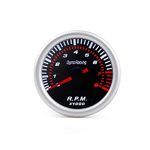 Tivivose Dynoracing 2'medidor de Voltaje Impulso Barra de aspiración de Aceite tacómetro Lente Humo tacómetro Prensa Agua PSI 52 mm (Color : Tachometer)