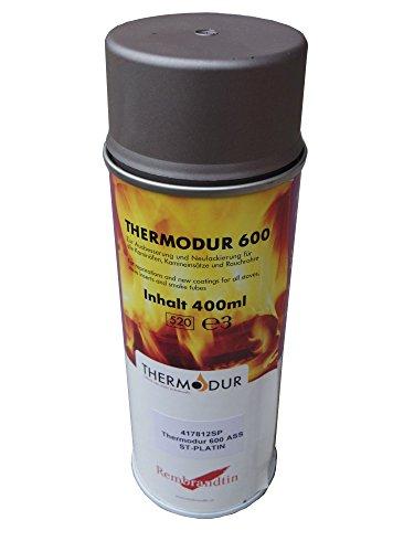 Ofenspray Platin Grau Rembrandtin Thermodur 600 A S S Ofen Lack rauchfrei hitzebeständig 400 ml