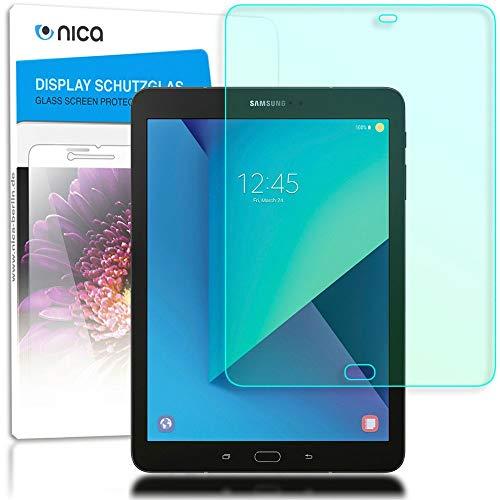 NALIA Cristal Templado Compatible con Samsung Galaxy Tab S3, Vidrio Blindado Película Protectora Display Cobertura, 9H Dureza Film Protector de Pantalla Movil Tablet Tempered-Glass - Transparente