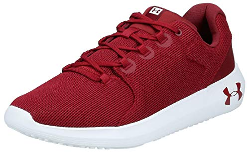 Under Armour UA Ripple 2.0, Zapatillas de Running para Hombre, Rojo (Cardinal/White/Cardinal (601) 601), 43 EU