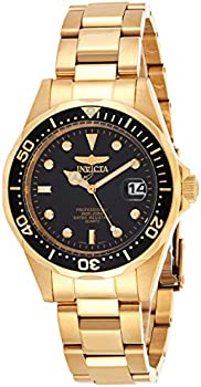 Invicta Pro Diver 37.5mm Gold Tone Stainless Steel Quartz Watch
