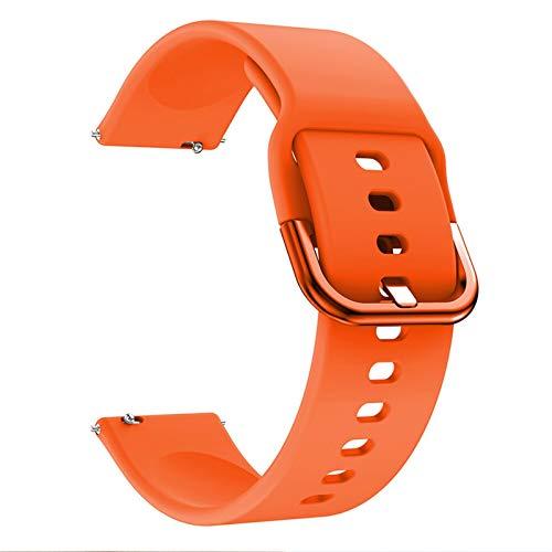 Sorteo Sport Silicone Watch Strap para Huawei Honor Watch ES Smart Watch for Xiaomi Amazfit GTS 2 pulserastrap Galaxy Activo 2 Banda Correa (Band Color : Orange, Band Width : For Honor Watch ES)