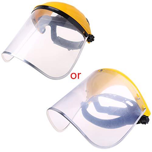 ZIRAN Visera de Casco de Seguridad con protección Facial Completa Transparente para construcción automotriz Pantalla Resistente a Altas temperaturas Amarillo