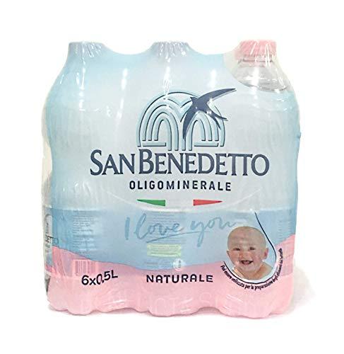 Acqua Minerale San Benedetto Benedicta Naturale 6 x 0,5 L