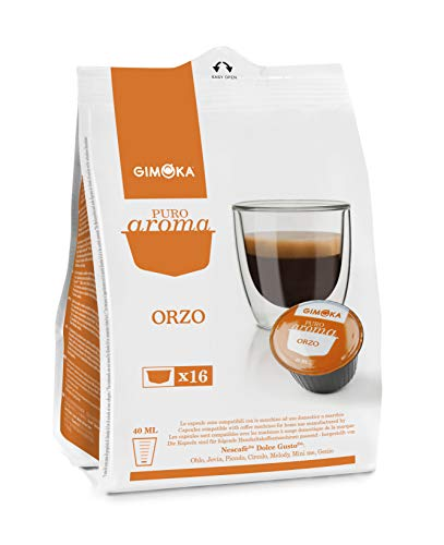 Gimoka - Capsule Compatibili Nescafè Dolce Gusto, Gusto Orzo - 64 Capsule