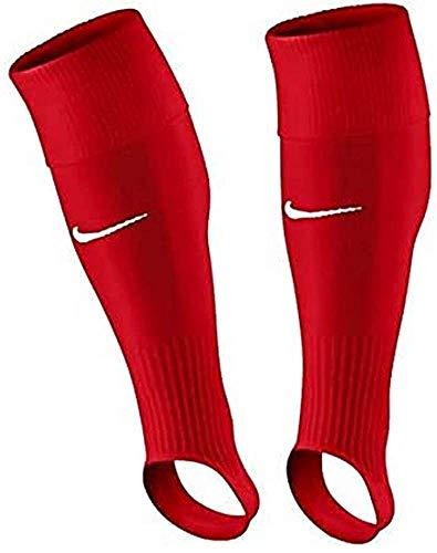 Nike Perf Stirrup-Team, Calzettoni da Calcio Senza La Parte del Piede Uomo, Rosso (University Red/Bianco) (Bianco), L