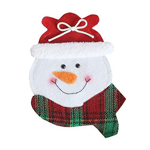 abbybubble Cartoon Round Face Besteck Taschen Essen Weihnachtsmesser und Gabel Abdeckung Hübsches Geschirr Halloween Dekorationen Gabel Tasche Tasche