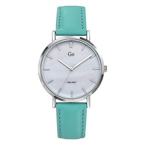 Girl Only - Reloj de pulsera analógico para mujer, color turquesa