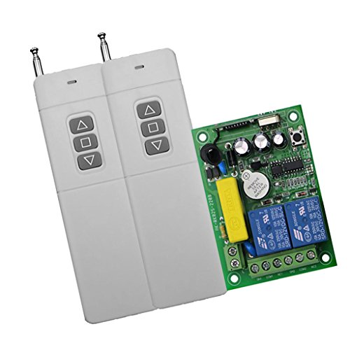 Great Deal! yotijar AC 220V 2CH Relay Wireless RF Remote Control - High Power 3 Button