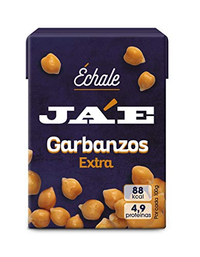 Ja'E Garbanzo Cocido, Conserva De Legumbres, Sin Conservantes, 8 Packs De 3 Unidades Échale 200 Gramos - Ja'e, 54 g