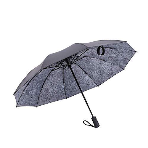 CEyyPD Paraguas plegable paraguas paraguas paraguas reversible automático 10 huesos paraguas paraguas resistente al viento compacto y ligero y conveniente para negocios, viajes, campamentos