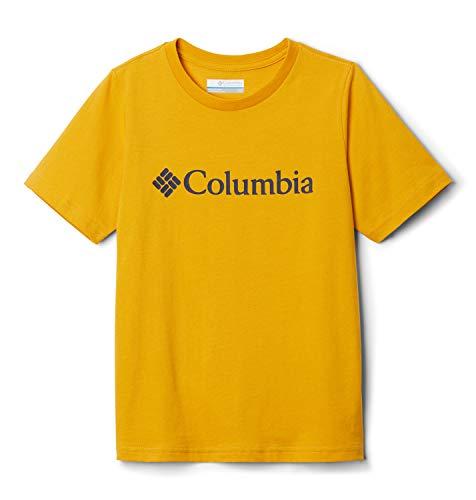 Columbia CSC Basic Youth Camiseta Estampada De Manga Corta, Unisex niños, Amarillo (Bright Gold), S
