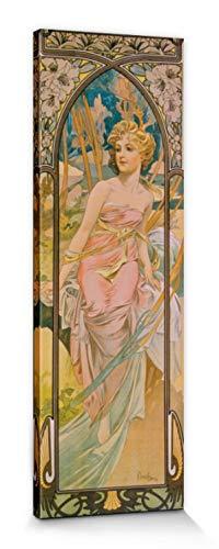 1art1 Alphonse Mucha - Orari del Giorno, La Mattina, 1899 Stampa su Tela (90 x 30cm)