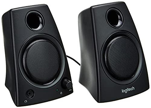 Logitech Z130 PC-Lautsprecher, Stereo Sound, 2 Lautsprecher, 10 Watt...