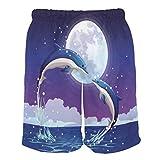Eslifey Dolphins Jumping Summer Beach Shorts Herren Badeshorts Boardshort für Mann L Gr. L/XL, Multi