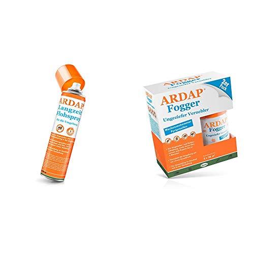 ARDAP Langzeit Flohspray 400ml für die Umgebung + ARDAP Fogger 2 x 100ml - Vorteilspack - Wirksamer Schutz für bis zu 6 Monate