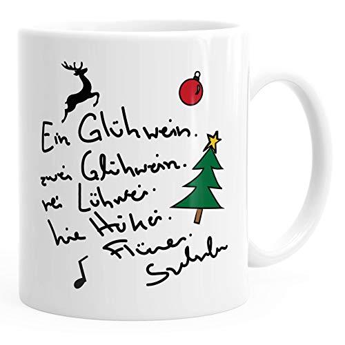 MoonWorks® Kaffee-Tasse Ein Glühwein swei Glühwein-Tasse Weihnachten weiß unisize