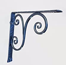 Shelf bracket in wrought iron with two scroll. (CL-2)