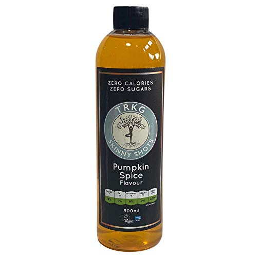 TRKG Skinny Shots - Pumpkin Spice Flavour - 500ml (Sugar Free, Vegan, Diabetic Friendly)