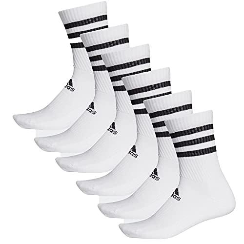 adidas 6 Paar CSH CREW 6p Tennissocken Sportspocken Unisex , Farbe:White, Socken und Strümpfe:40-42