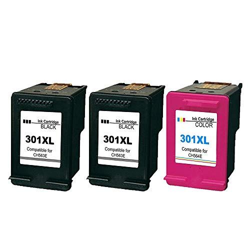 Ksera Remanufacturado HP 301 XL HP 301 Cartuchos de tinta de alto rendimiento...