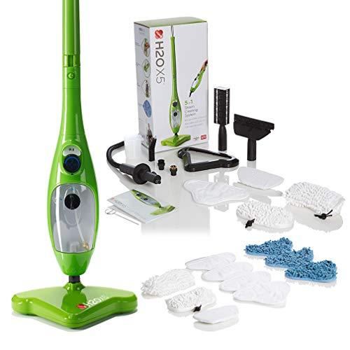 H2O X5 Premium Edition - Steam Mop - 5 in 1 Steam Cleaner (Green)