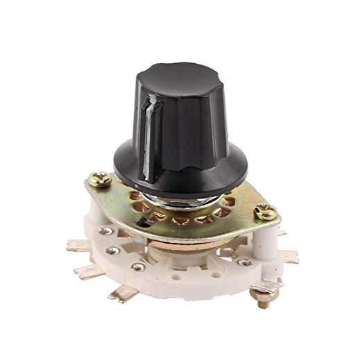 New Lon0167 KCZ 3 polos 2 tiros 6 mm Selector de interruptor giratorio de canal de banda de eje w tapa(KCZ 3 Pol 2 Wurf 6 mm Wellenband Kanal Drehschalter Wahlschalter w Cap