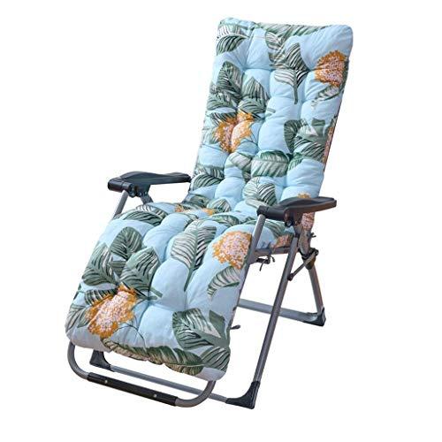 N /A Coussin de chaise longue de rechange avec housse supérieure antidérapante pour jardin, terrasse, chaise inclinable (couleur : bleu, taille : 170 x 53 x 8 cm), Vert, 170*53*8CM