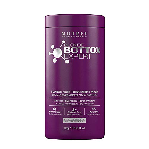 Blonde Botox Expert Purple Hair Treatment 33.8 fl.oz - Best for Blonde Hair - Anti-Brass, Eliminate Yellows, Toning Effect - Promotes the Smoothing of Hair - Adding Softness and Amazing Gloss