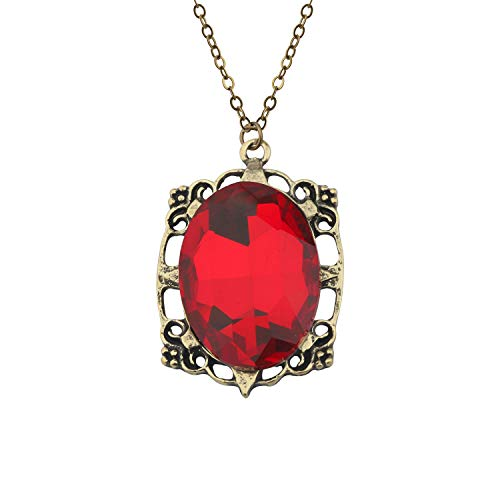 Bonnie Bennett Talisman Pendant Necklace The Vampire Diaries Inspired Jewelry (Red Necklace)