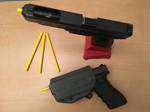 GARRET MACHINE Pistol Barrel Safety Chamber Plug/Flag Five Pack (9mm)
