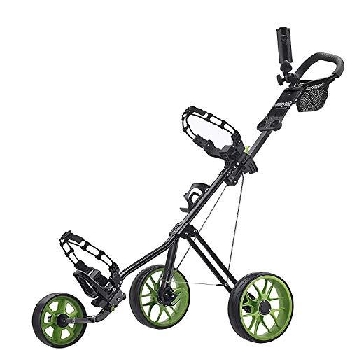 Caddytek chariot de golf pousse 3 roues Superlite Deluxe avec Practise Balles de golf et tees de 100...