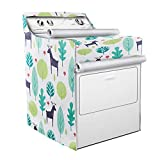 Washer/Dryer Cover,Fit for Outdoor Top Load and Front Load Machine,Zipper Design for Easy Use,Waterproof Dustproof Moderately Sunscreen(W29D28H40in,Fallow Deer)