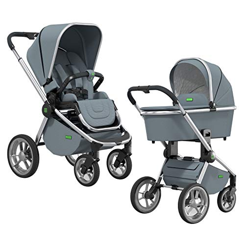 MOON RESEA S – Komfort Kombi-Kinderwagen in der RF-Edition aus 66% recycelten Materialien – flexibel und sehr klein faltbar