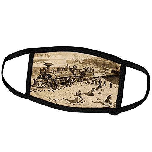 Lplpol Month Mask - Scenes from The Past Vintage Stereoview - Scenes from The Union Pacific Railroad - Dust Mask Outdoor Protective Mask