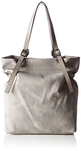 ESPRIT Damen 077ea1o042 Tote, Grau (Light Grey), 12x38x32 cm