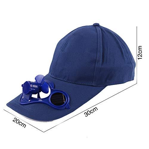 IOIOA Unisex solarbetriebene Fan Baseball-Mütze Cooling Fan Cap Große Camping Wandern Schirmmütze für den Sommer Entlasten Schwül Gefühl,C
