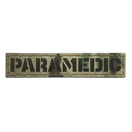 IR Multicam Paramedic 1x5 Name Tape EMS EMT Medic Tactical Hook&Loop Patch