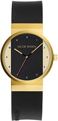 JACOB JENSEN dameshorloge JACOB JENSEN NEW SERIES ITEM NO. 744 analoog kwarts rubber JACOB JENSEN NEW SERIES ITEM NO. 744