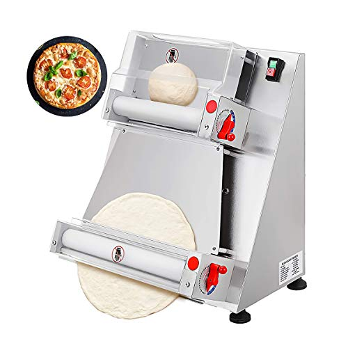 Máquina laminadora automática de masa para pizza, máquina para hacer pizza de 12 a 15 pulgadas, adecuada para equipos para hacer pasta y pan de pizza de fideos