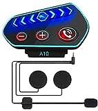 OBEST Auriculares Bluetooth para Casco de Motocicleta, con Contestador Manos Libres y Sistema de Voz...