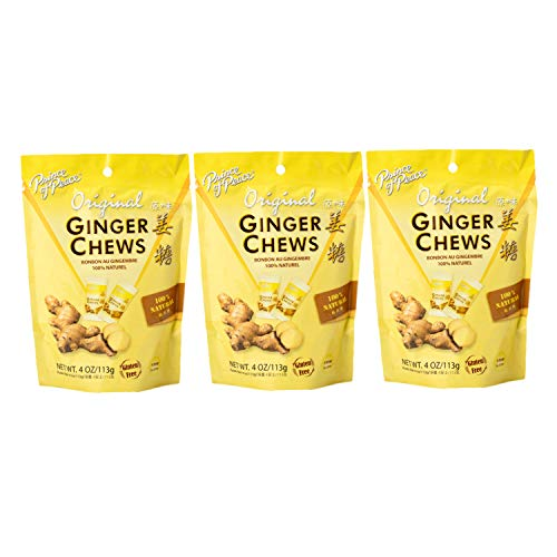 Prince of Peace Ginger Chews Candy Original Flavor — Sweet and Spicy Chewy Organic Vegan Candies for Morning Sickness and Nausea Relief — 4oz (Pack of 3) by Prince of Peace